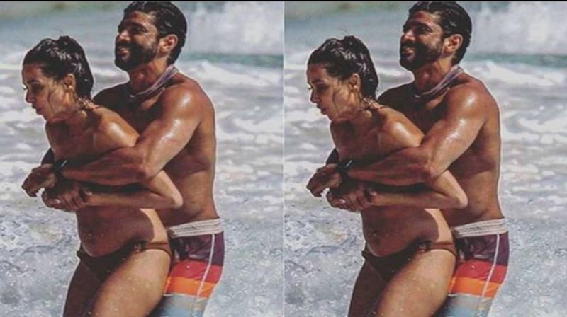 Farhan and Shibani during their vacation in Mexico. (Photo: Instagram)