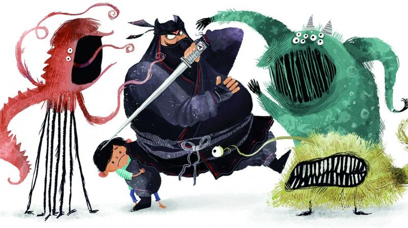 Sandhya's illustration for Hasura, a startup.