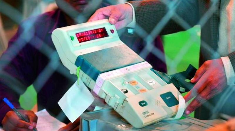 The first widespread use of EVMs — comprising a punch-card and a computer to tally the votes — was in the 1964 US presidential election in seven counties.
