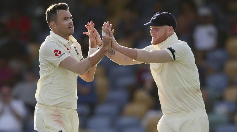 James Anderson's fellow England fast bowler Stuart Broad (19th) will be looking to retain a top-20 place, which he has maintained since 2009, while Moeen Ali (25th, 621 points) is only 12 points behind from his best-ever rating points achieved in August 2017. (Photo:AP/PTI)