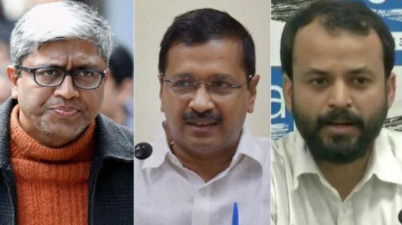 Arvind Kejriwal used Khetan and Ashutosh as key negotiators to resolve the crisis between him and Yogendra Yadav and Prashant Bhushan. (Photo: DC)