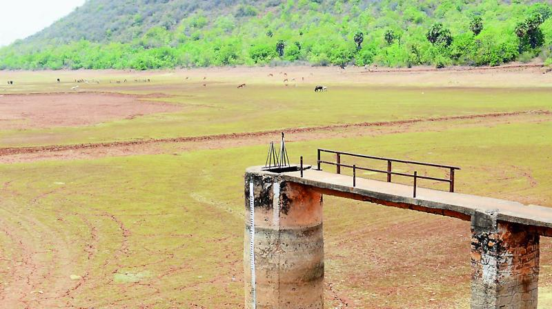 Gambeeram Gedda reservoir dries up totally, making water supply to residents of Visakhapatnam tough. 	— DC