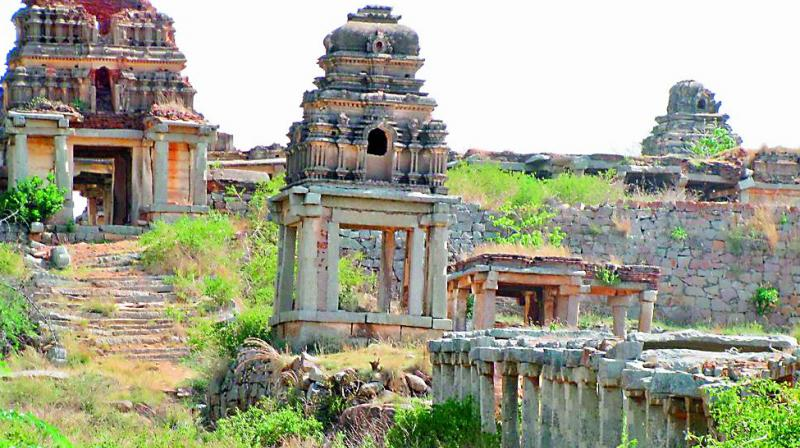 Lord Narasimha Swamy temple that has not been maintained properly and lies in a dilapidated condition.