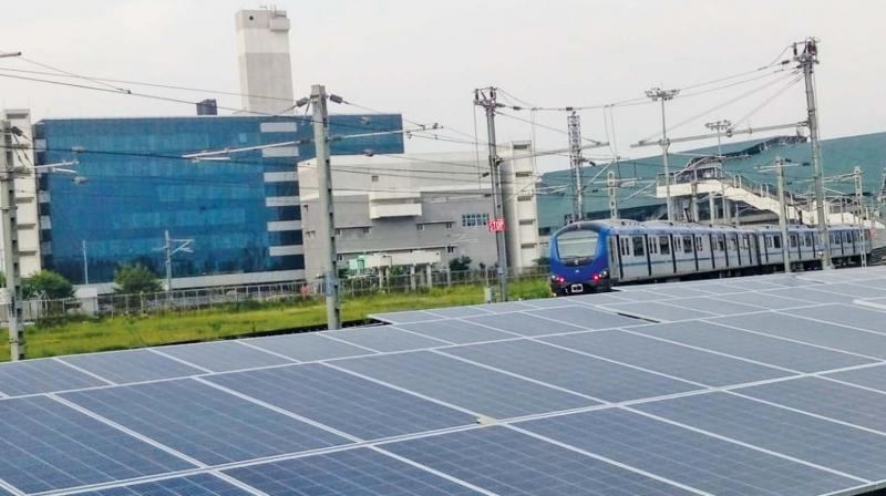CMRL installs solar panels in Koyambedu depot