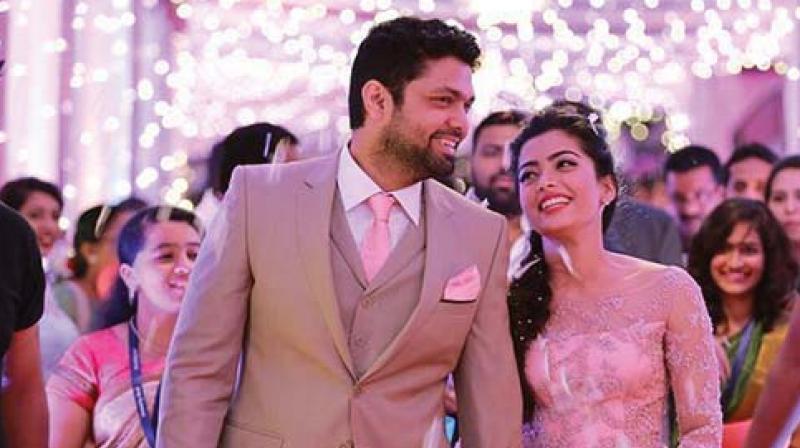 Rashmika and Rakshit in happier times