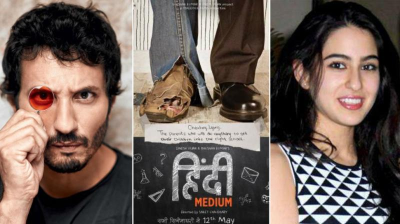 Homi Adajania, 'Hindi Medium' poster, Sara Ali Khan at an event.