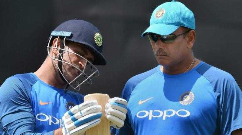 Ravi Shastri silenced queries on current wicketkeeper Mahendra Singh Dhoni, saying that great players like Dhoni should decide their own future.(Photo: PTI)