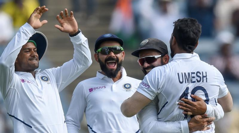 Shami was getting the semi new-ball to dart back in after pitching while Yadav was primarily bowling outswingers. (Photo: AFP)
