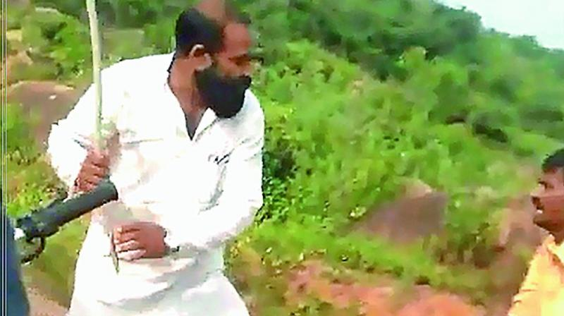 The owner of the quarry, M. Bharath Reddy, a BJP leader and the former district general secretary of the party, rushed to the spot and began beating the boys with a stick.