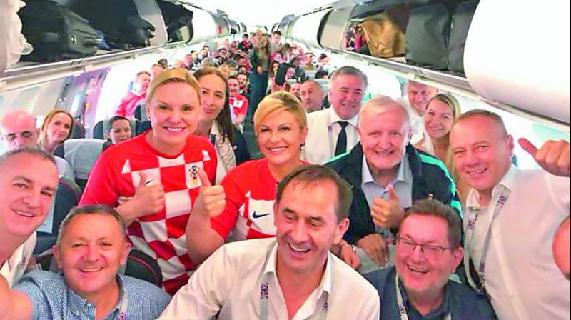 The Croatian president Kolinda Grabar-Kitarovic made her presence felt in the World Cup in the match against Denmark, when she flew economy class to Russia in order to attend her national team's match and sat in the stands from where she was featured heavily on the social media.