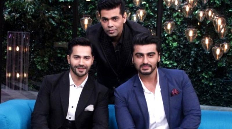 Varun Dhawan, Karan Johar and Arjun Kapoor.