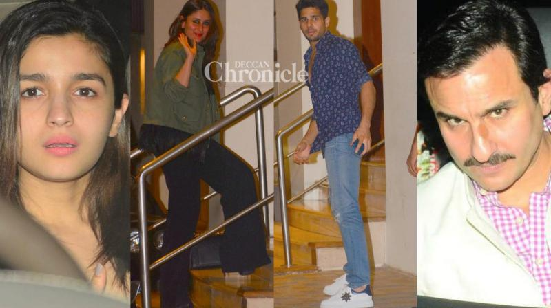 Bollywood celebrities were snapped at businessman Sunny Dewan's bash that took place in Mumbai late Saturday. (Photo: Viral Bhayani)