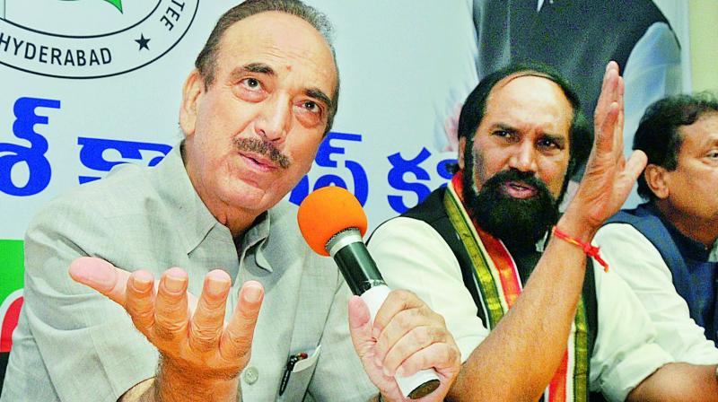 Amid the political upheaval in Karnataka, senior Congress leader Ghulam Nabi Azad has lashed out at the BJP and said that the party and its leaders 'hardly care' about the Constitution. (Photo: File)