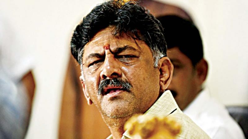 Water Resources and Medical Education Minister D.K. Shivakumar at a press conference in Bengaluru on Wednesday.  (Photo:DC)