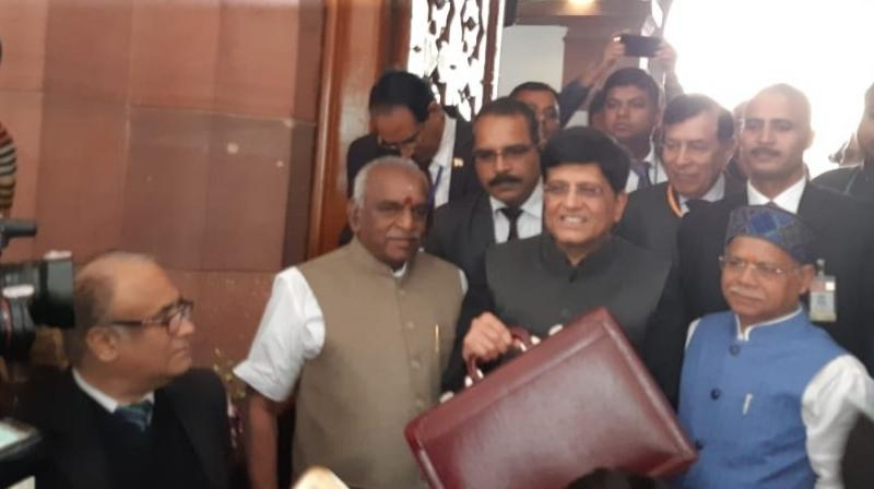 The budget, which was focused on giving big push to investment in agriculture, small and medium industries, and health sectors, is NDA government's last budget before the general elections. (Photo: ANI | Twitter)