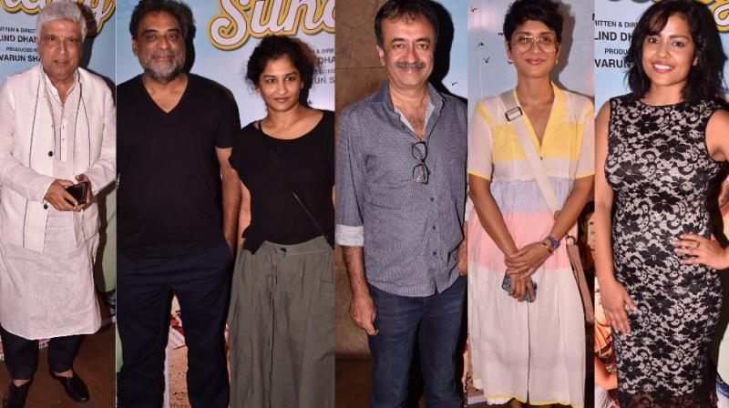 Several stars from the film industry turned up for a special screening of the film 'Tu Hai Mera Sunday' held in Mumbai on Monday. (Photo: Viral Bhayani)
