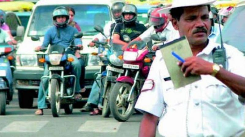 The dilemma of the traffic police came into the public domain recently, when the traffic police who caught a driver at Jubilee Hills for driving in an inebriated state forced another passenger in the car to drive the vehicle to the police station. (Representational Image)