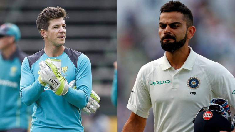 Australian Test team skipper Tim Paine said his team will not shy away from having a go at Virat Kohli if there is a need but they will pick their moments carefully. (Photo: AFP)