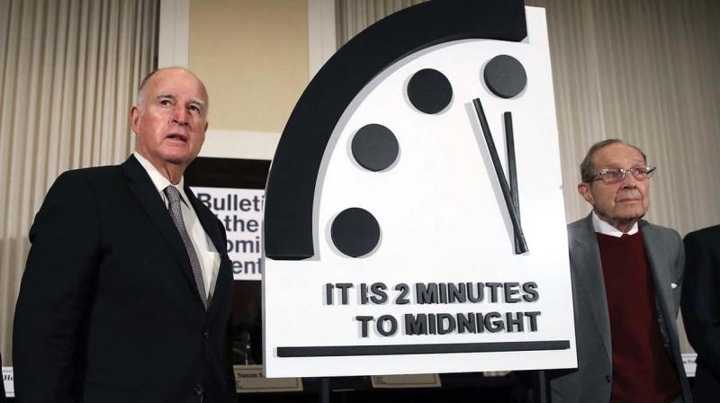 On January 24, the symbolic Doomsday Clock stood at two minutes to midnight, the closest it has got since it was configured by the Bulletin of the Atomic Scientists in 1947.