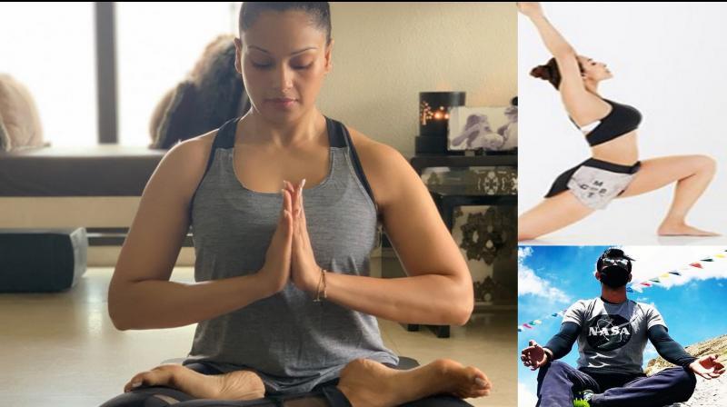Bollywood on International Yoga Day 2019. (Photo: Instagram)
