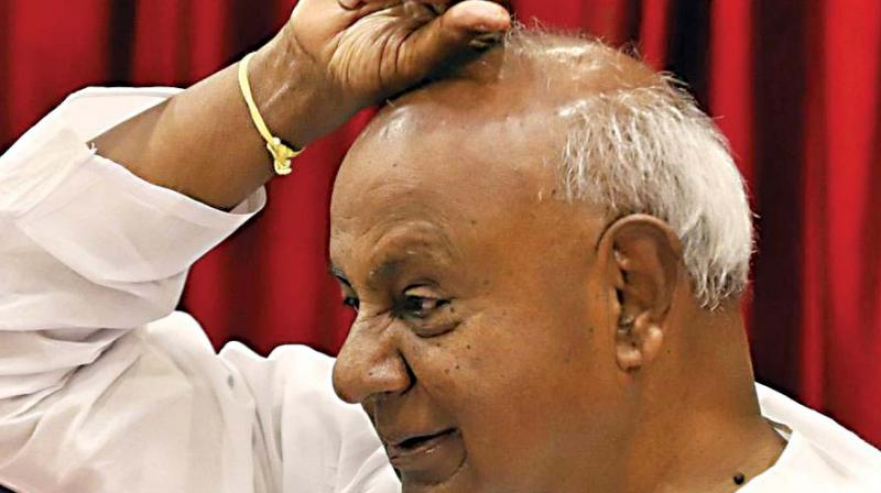 'There are chances of mid-term polls in the state. If they come, let's contest independently without going for an alliance with anyone,' Gowda said. (Photo: File)