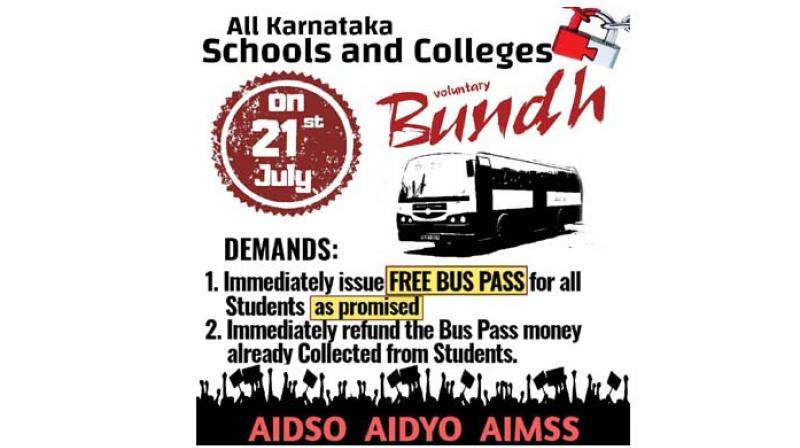 The bandh call has been given by the All-India Democratic Students Organisation (AIDSO), All-India Mahila Sanskritik Sanghatan (AIMSS) and All-India Democratic Youth Organisation (AIDYO).