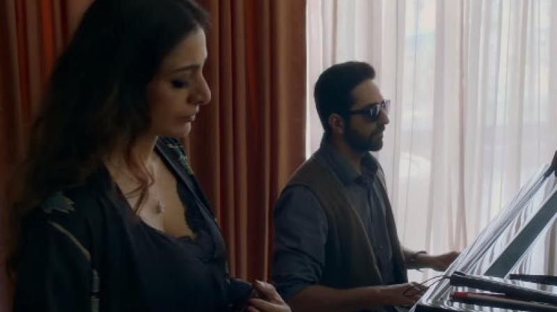 Ayushmann Khurrana and Tabu in AndhaDhun. (YouTube screengrab. Courtesy: Viacom18 Motion Pictures)