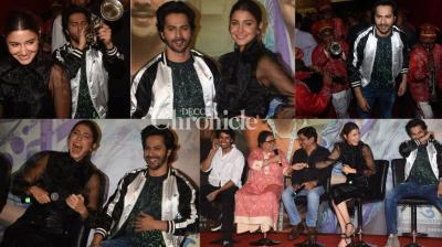 Simpletons turn millionaires: Varun Dhawan and Anushka Sharma, who played common man in 'Sui Dhaaga', were ecstatic and celebrated in Mumbai on Friday the success of the film as it earned crores in the first week. (Photos: Viral Bhayani)