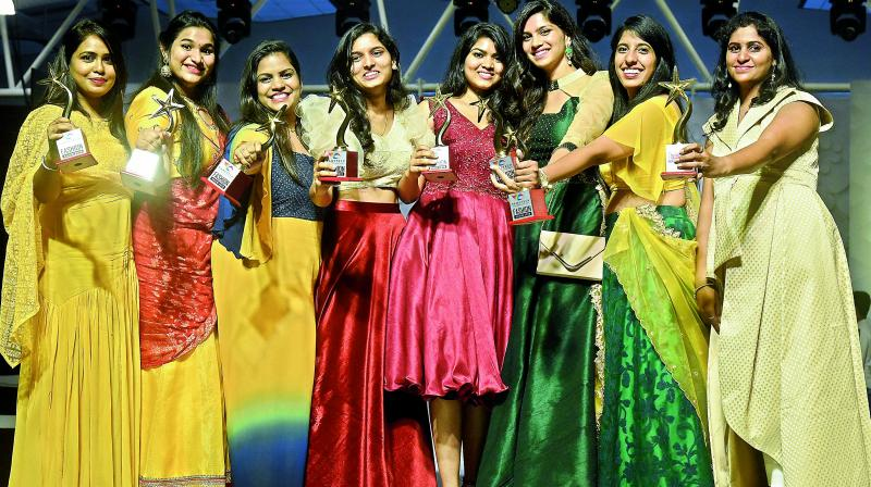 Winners Take All: Fashion design students from Hamstech with their awards