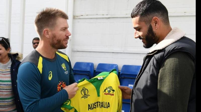 """Australia captain Aaron Finch said last week that Warner was """"pretty shaken-up"""" after the net bowler was felled.(Photo: Cricket World Cup/Twitter)"""