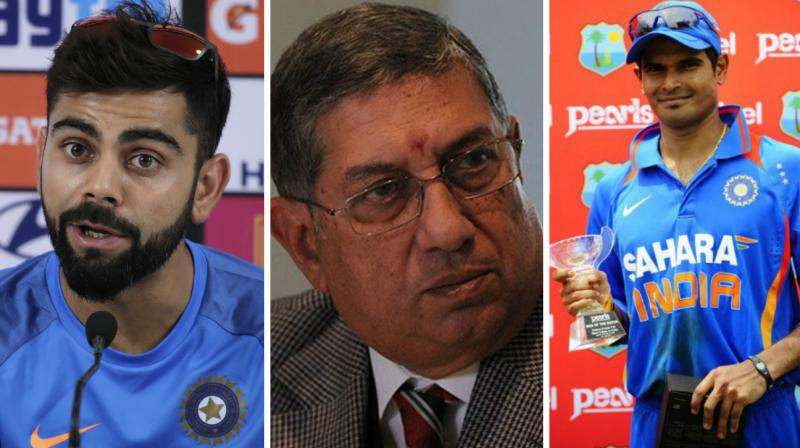 """When N Srinivasan, then board treasurer and controller of Tamil Nadu cricket, found out I had dropped Badrinath for Virat (Kohli), he was livid and went and complained to the board president Sharad Pawar,"" according to TV journalist Rajdeep Sardesai's latest book - Democracy's XI. (Photo: AP / AFP)"