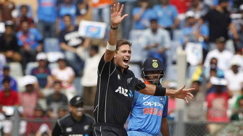 """No pressure, it's more excitement I would say. There was an air of excitement around the guys today at training. Obviously, we feel freshened up after the day off yesterday. The series is on the line tomorrow,"" said Southee ahead of the third and final ODI in Kanpur. (Photo: BCCI)"