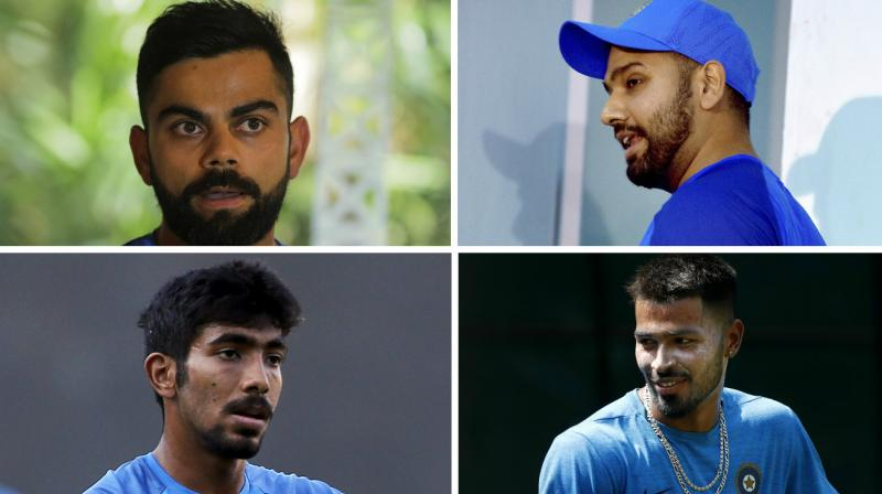 Captain Virat Kohli, Rohit Sharma, Jasprit Bumrah and Hardik Pandya were among the five Indian team members who skipped the optional practice session ahead of third and final ODI of the India versus New Zealand series. (Photo: AP / PTI)
