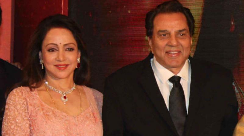 Hema Malini and Dharmendra.