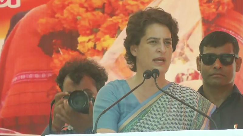 'Change politics, not only of your area or for your needs, but for your future generations and to save the country, as the country is in danger,' she said at an election meeting here. (Photo: ANI | Twitter)