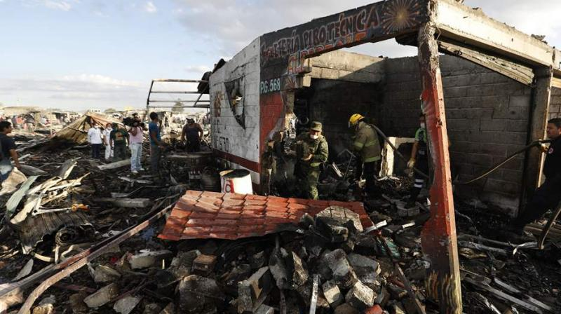 The explosion came during preparations for a religious festival on May 15, the Puebla state government said.