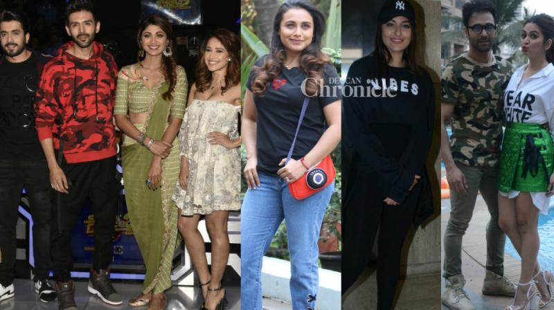 Bollywood stars were clicked by the cameras as they stepped out for various events related to their films in Mumbai on Monday. (Photo: Viral Bhayani)