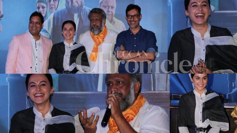 Anubhav Sinha directed 'Mulk', which is all set for release on August 3, 2018, got its trailer launched yesterday. 'Mulk' stars Taapsee Pannu, Rishi Kapoor, Neena Gupta, Ashutosh Rana and Prateik Babbar. Checkout the pictures from the event. (photos: Viral Bhayani)