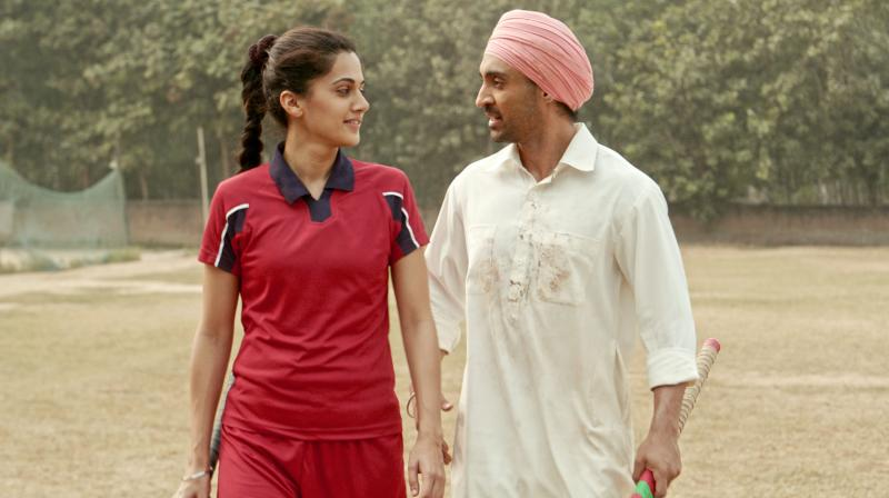 Diljit Dosanjh and Taapsee Pannu in the still from 'Soorma'.
