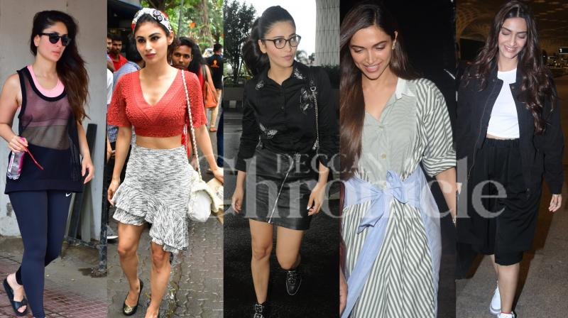 Bollywood celebs Kareena Kapoor Khan, Deepika Padukone, sonam Kapoor, Tiger Shroff and others were spotted in the city, see exclusive pictures of your Bollywood stars right here. (Photos: Viral Bhayani)