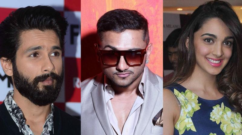 Shahid Kapoor, Yo Yo Honey Singh and Kiara Advani.
