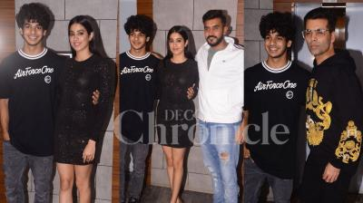 Karan Johar produced Dhadak has made history for being one of the highest earners with newcomers in the lead, as it earned more than Rs 100 crore at the worldwide box office. The team recently celebrated success with an awesome bash. Checkout exclusive pictures from the event right here. (Photos: Viral Bhayani)