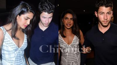 Priyanka Chopra, who is rumoured to be engaged to American singer Nick Jonas, stepped out for a dinner with their families in Mumbai on Friday night. Checkout the latest pictures here. (Photos: Viral Bhayani)