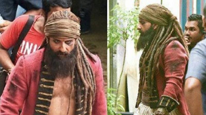 Saif Ali Khan on 'Hunter' sets.