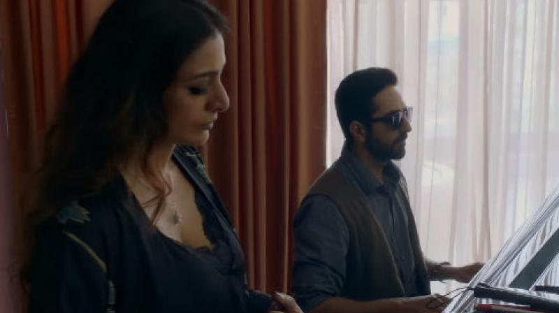 Ayushmann Khurrana and Tabu in AndhaDhun. (YouTube screengrab. Courtesy: Viacom18 Motion Pictures)