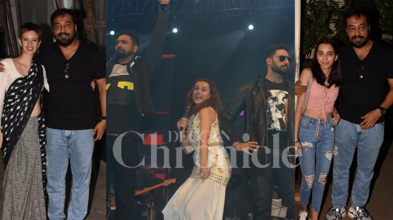 The lead star cast of Anurag Kashyap's upcoming romantic drama was present in Delhi to promote film's soundtrack under #WakeUpToManmarziyan campaign. Whereas Anurag hosted a special screening of film for his loved ones in Mumbai. (Pictures: Viral Bhayani)