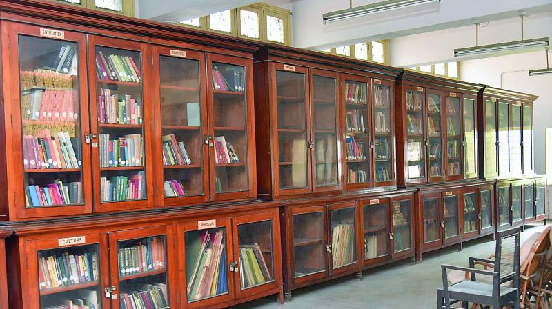 The library in the department of archeology and museums where about 24,000 books on the history of Telangana and Andhra Pradesh are stored.