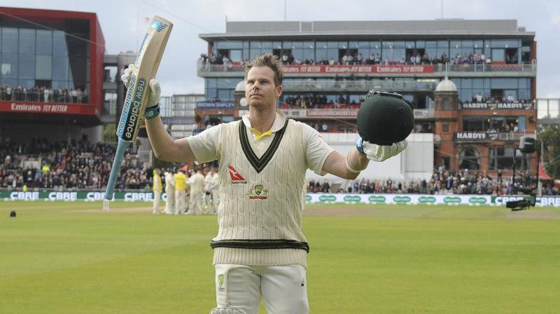 Steve Smith was subjected to boos and negative chants throughout the series by a plethora of English fans. But, in the final match of the series, it was the same group of English fans that applauded him. (Photo: AP)