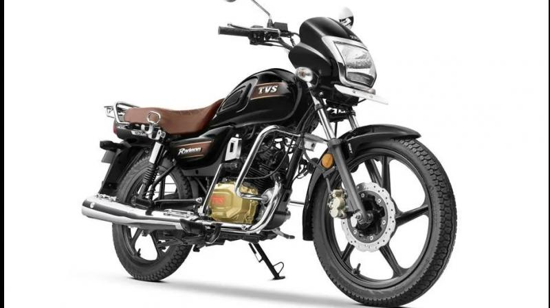 TVS Radeon Special Edition is available in two paint options - chrome-black and chrome-brown.