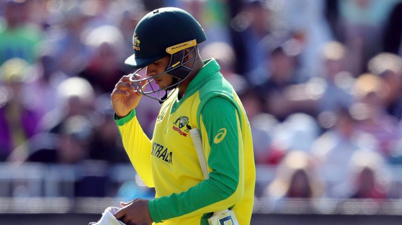 Usman Khawaja eventually came in to bat later as the team were chasing a massive target of 326, but he managed to score 18 runs only.